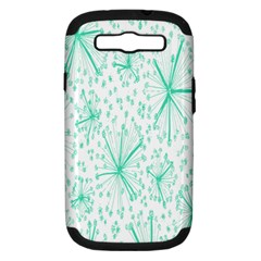 Pattern Floralgreen Samsung Galaxy S Iii Hardshell Case (pc+silicone)