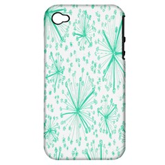 Pattern Floralgreen Apple Iphone 4/4s Hardshell Case (pc+silicone)