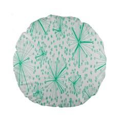 Pattern Floralgreen Standard 15  Premium Round Cushions