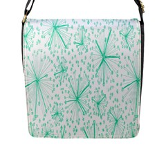 Pattern Floralgreen Flap Messenger Bag (l)