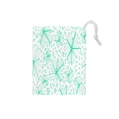 Pattern Floralgreen Drawstring Pouches (Small)