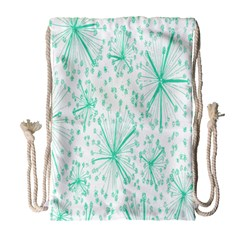 Pattern Floralgreen Drawstring Bag (Large)