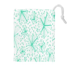 Pattern Floralgreen Drawstring Pouches (Extra Large)