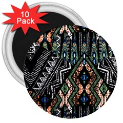 Ethnic Art Pattern 3  Magnets (10 Pack)