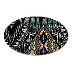 Ethnic Art Pattern Oval Magnet
