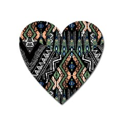 Ethnic Art Pattern Heart Magnet