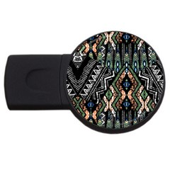 Ethnic Art Pattern Usb Flash Drive Round (2 Gb)