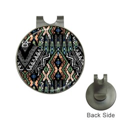 Ethnic Art Pattern Hat Clips with Golf Markers
