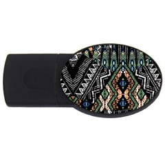 Ethnic Art Pattern Usb Flash Drive Oval (4 Gb)