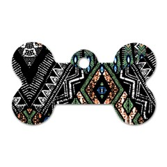 Ethnic Art Pattern Dog Tag Bone (one Side)