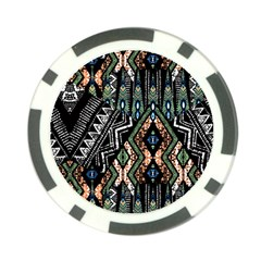 Ethnic Art Pattern Poker Chip Card Guard