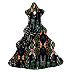 Ethnic Art Pattern Christmas Tree Ornament (Two Sides)