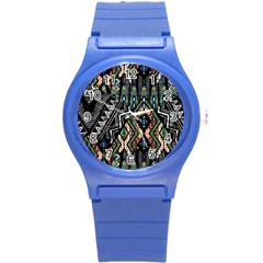 Ethnic Art Pattern Round Plastic Sport Watch (s)
