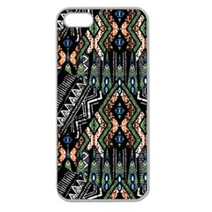 Ethnic Art Pattern Apple Seamless Iphone 5 Case (clear)