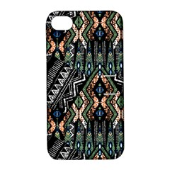 Ethnic Art Pattern Apple Iphone 4/4s Hardshell Case With Stand