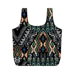 Ethnic Art Pattern Full Print Recycle Bags (M)