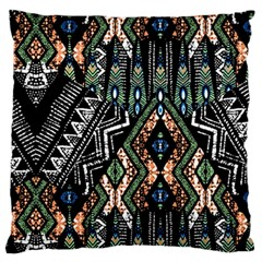 Ethnic Art Pattern Large Flano Cushion Case (one Side)