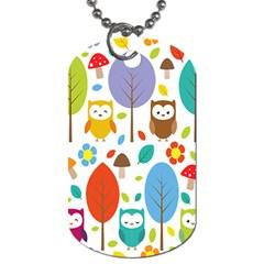 Cute Owl Dog Tag (One Side)