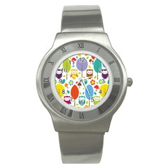 Cute Owl Stainless Steel Watch