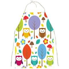 Cute Owl Full Print Aprons