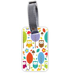 Cute Owl Luggage Tags (Two Sides)