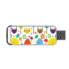 Cute Owl Portable Usb Flash (one Side)