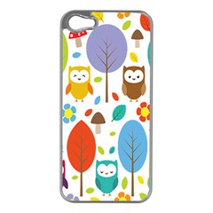 Cute Owl Apple Iphone 5 Case (silver)