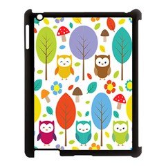 Cute Owl Apple iPad 3/4 Case (Black)