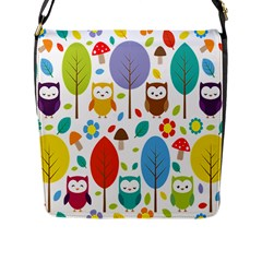 Cute Owl Flap Messenger Bag (l)