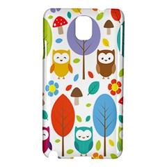 Cute Owl Samsung Galaxy Note 3 N9005 Hardshell Case