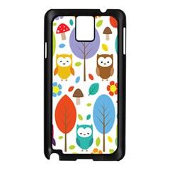 Cute Owl Samsung Galaxy Note 3 N9005 Case (black)