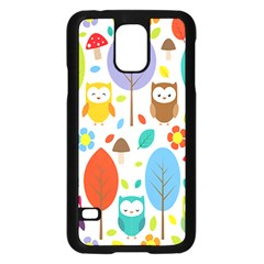 Cute Owl Samsung Galaxy S5 Case (black)