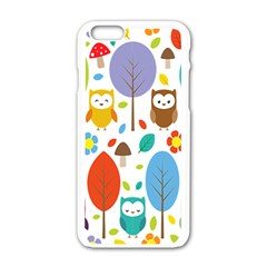 Cute Owl Apple Iphone 6/6s White Enamel Case