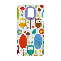 Cute Owl Samsung Galaxy Note 4 Hardshell Case