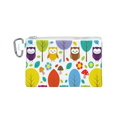 Cute Owl Canvas Cosmetic Bag (s)