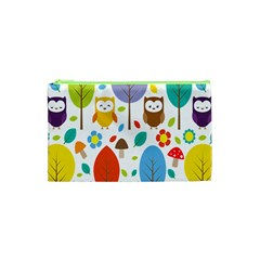 Cute Owl Cosmetic Bag (xs)