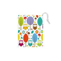 Cute Owl Drawstring Pouches (xs)