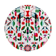 Abstract Peacock Ornament (round)