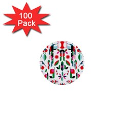 Abstract Peacock 1  Mini Buttons (100 Pack)