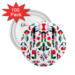 Abstract Peacock 2.25  Buttons (100 pack)