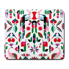 Abstract Peacock Large Mousepads