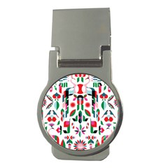 Abstract Peacock Money Clips (round)