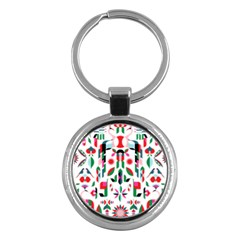 Abstract Peacock Key Chains (round)