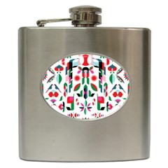 Abstract Peacock Hip Flask (6 Oz)