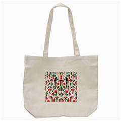 Abstract Peacock Tote Bag (cream)