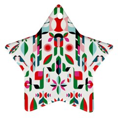 Abstract Peacock Star Ornament (two Sides)