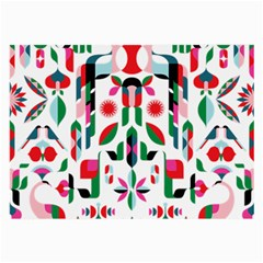 Abstract Peacock Large Glasses Cloth (2 Side)