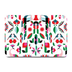 Abstract Peacock Plate Mats