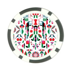 Abstract Peacock Poker Chip Card Guard