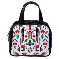 Abstract Peacock Classic Handbags (one Side)